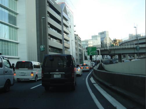 渋谷辺りで渋滞.JPG