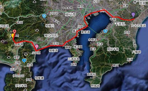 東金→小田原→山中湖.JPG