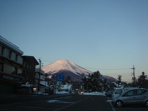 朝焼けの富士山.JPG