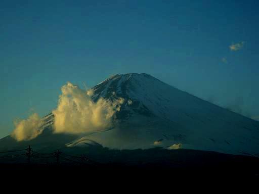 暮れ行く富士山.JPG