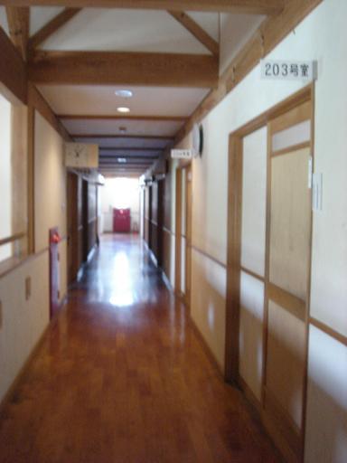 宿泊施設の廊下.JPG
