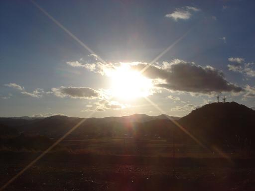 冷たい夕日.JPG