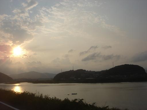 四万十対岸の夕日.JPG