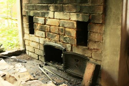 五右衛門風呂の焚き口
