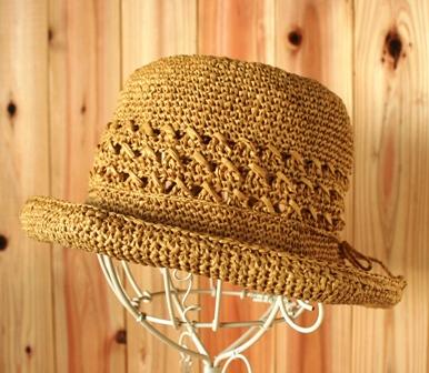 透かし模様の帽子(133-3)