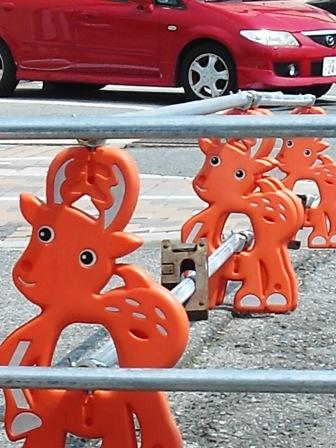 簡易ガードレール 鹿