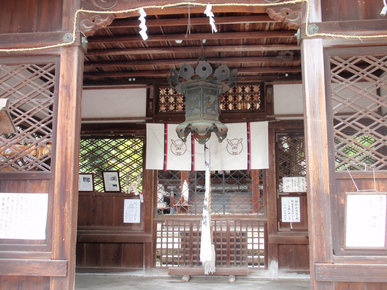 三尾神社・拝殿2