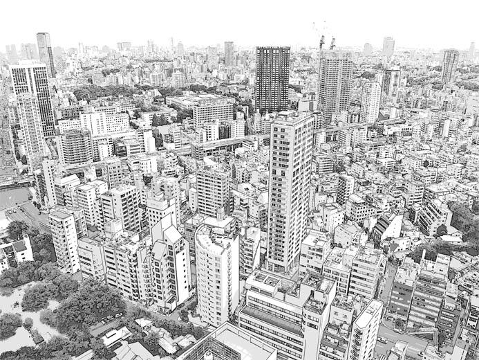 漫画背景:東京タワー01