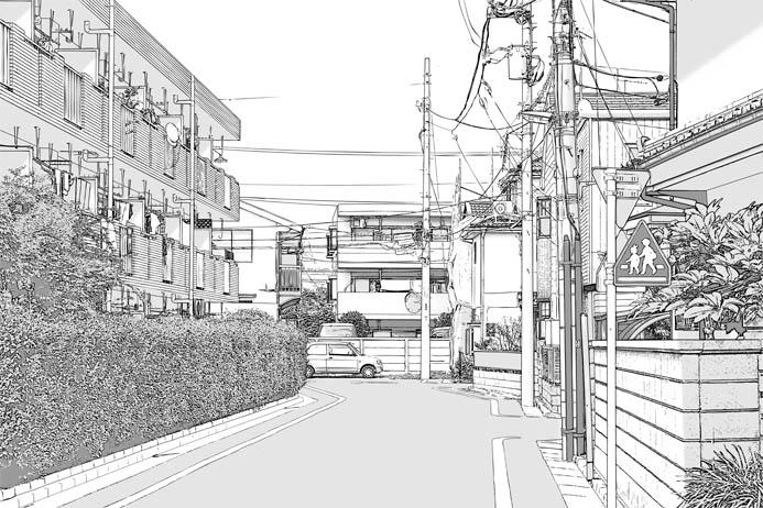 漫画背景・住宅010