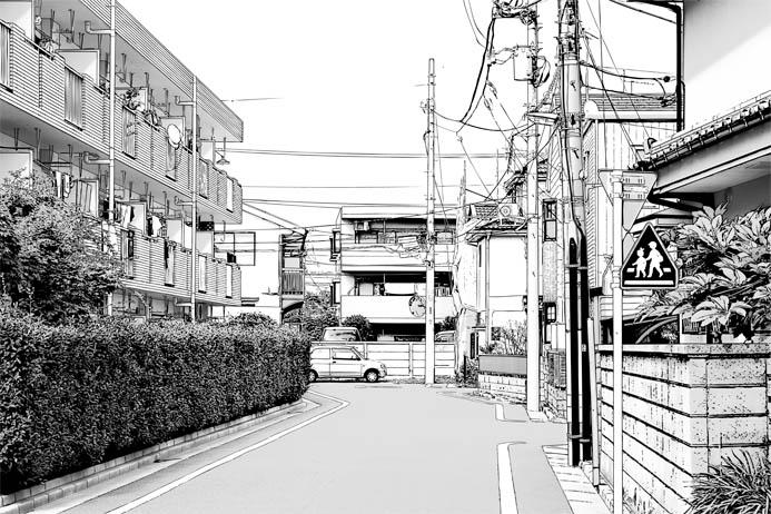 漫画背景・住宅010c