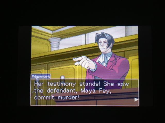 逆転裁判 北米版 マヤ法廷 エイプリル証言 226