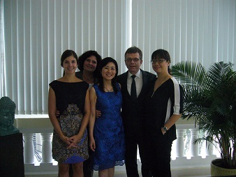 With the German Consulate team