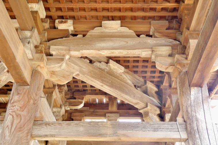 2013苗村神社楼門天井