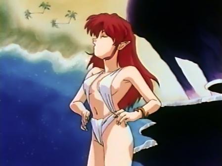 無責任艦長タイラーOVA版特別編 アザリンの水着姿ビキニ14