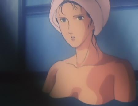 キャッツアイ24 来生泪の胸裸入浴シーン