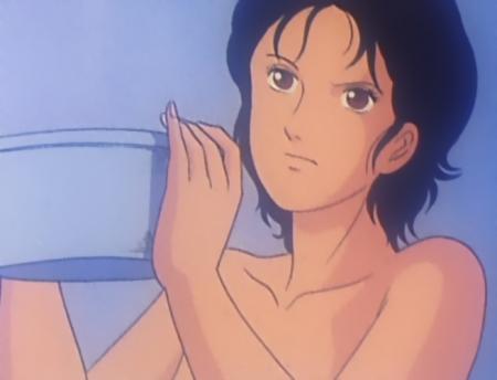 キャッツアイ28 来生愛の胸裸入浴シーン