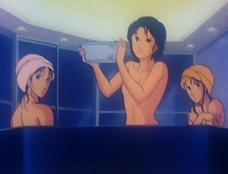 キャッツアイ29 来生愛の胸裸入浴シーン乳首