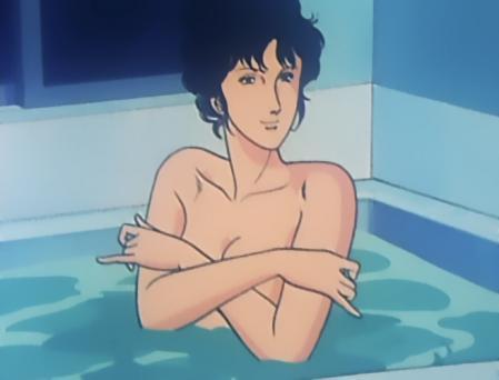 キャッツアイTV版2 来生瞳の胸裸入浴シーン