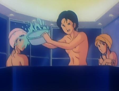 キャッツアイ30 来生愛の胸裸入浴シーン乳首