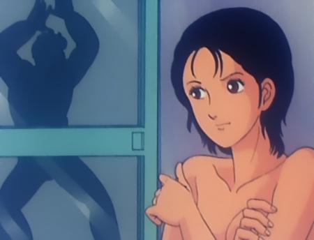 キャッツアイ34 来生愛の胸裸入浴シーン