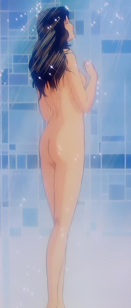 キャッツアイTV版3 来生泪の全裸シャワーシーン乳首