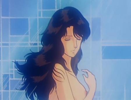 キャッツアイ6 来生泪の胸裸シャワーシーン乳首