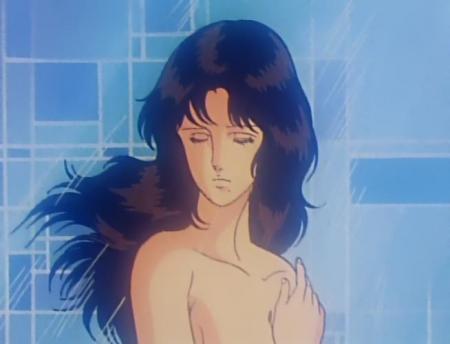キャッツアイ7 来生泪の胸裸シャワーシーン