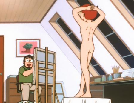 エスパー魔美 佐倉魔美の全裸ヌードモデル背面10