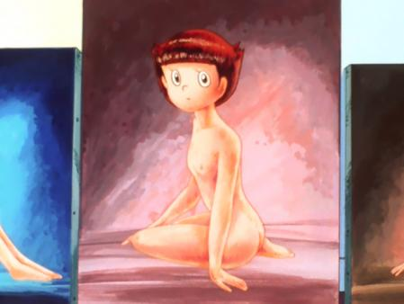エスパー魔美 佐倉魔美の全裸ヌードモデル絵画8
