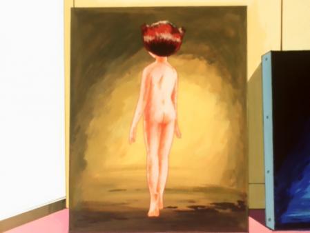 エスパー魔美 佐倉魔美の全裸ヌードモデル絵画10