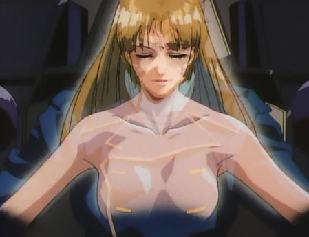 機動新世紀ガンダムX35 ルチル・リリアントの胸裸