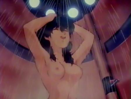 星猫フルハウス ライラ・ササニッドの胸裸シャワーシーン乳首1