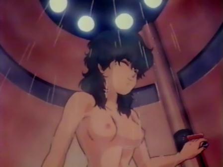 星猫フルハウス ライラ・ササニッドの胸裸シャワーシーン乳首2