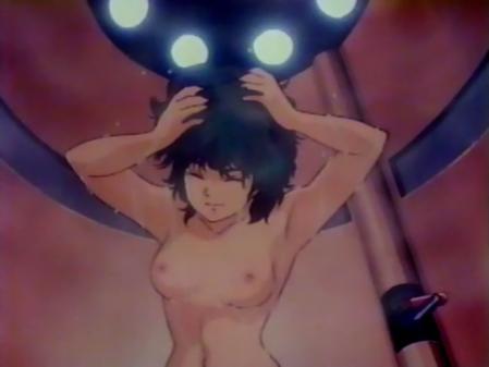 星猫フルハウス ライラ・ササニッドの胸裸シャワーシーン乳首4