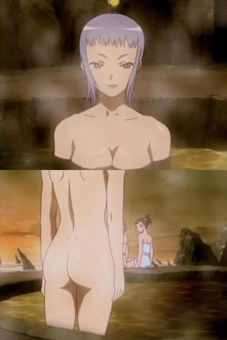 舞-乙HiME23話 ミユの全裸温泉入浴シーン3