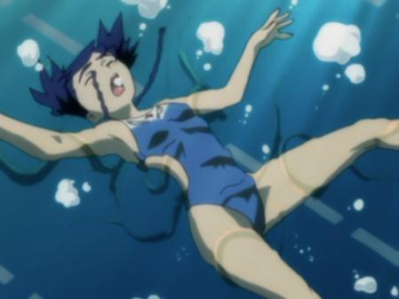 舞-乙HiME6話水着シーン ゼリーアンギルに襲われるニナ・ウォン20