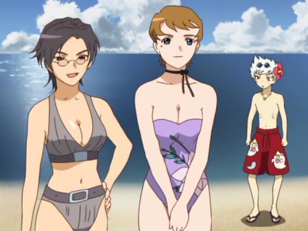 舞-乙HiME9話 チエ・ハラードのビキニとユカリコ・シュタインベルグの水着姿10