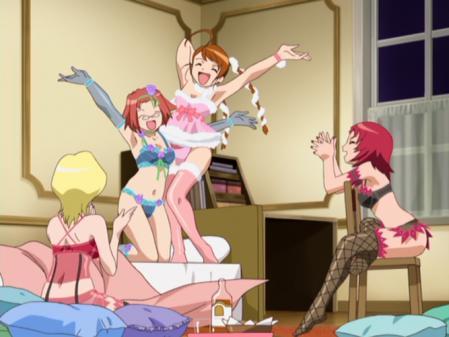舞-乙HiME3巻映像特典ジュリエットの陰謀 アリカ・ユメミヤとイリーナ・ウッズの下着姿ブラパンツ1