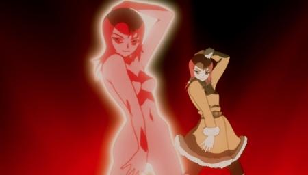 舞-乙HiME Zwei14 ジュリエット・ナオ・チャンのローブ展開シーン全裸