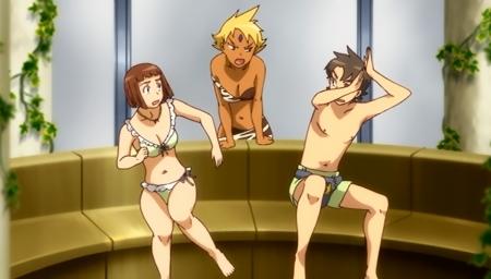 舞-乙HiME Zwei15 アカネ・ソワールとマーヤ・ブライスの水着姿ビキニ