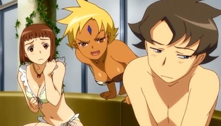 舞-乙HiME Zwei16 アカネ・ソワールとマーヤ・ブライスの水着姿ビキニ
