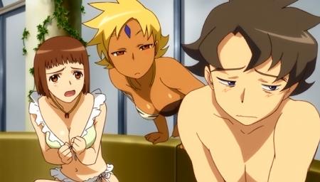 舞-乙HiME Zwei17 アカネ・ソワールとマーヤ・ブライスの水着姿ビキニ