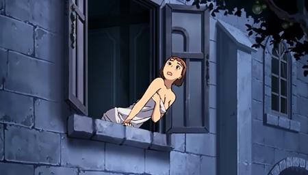 舞-乙HiME Zwei18 アカネ・ソワールの胸裸バスタオル姿