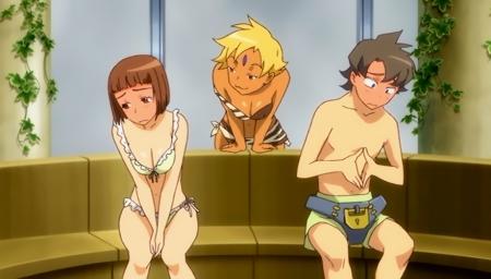 舞-乙HiME Zwei19 アカネ・ソワールとマーヤ・ブライスの水着姿ビキニ