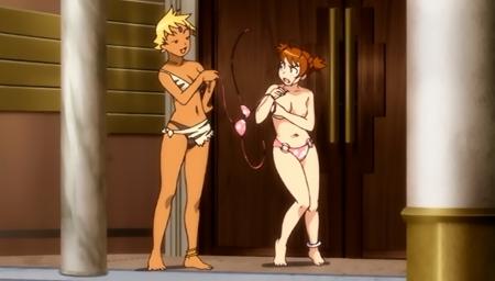 舞-乙HiME Zwei31 アリカ・ユメミヤのおっぱいポロリシーン胸裸