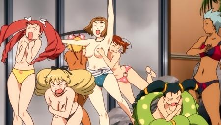 舞-乙HiME Zwei56 アイン・ルーとロザリー・クローデルの胸裸