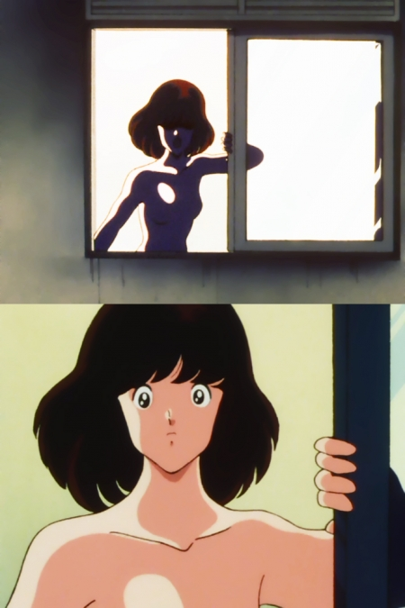 タッチ23 浅倉南の胸裸入浴シーン