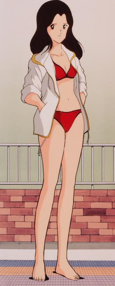 タッチTV版3 西尾佐知子の水着姿ビキニ