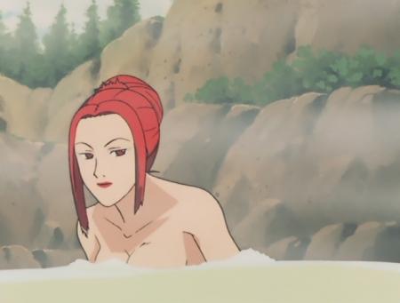 ターンエーガンダム21 テテス・ハレの胸裸温泉入浴シーン