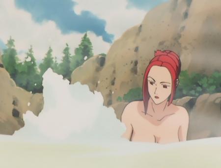 ターンエーガンダム22 テテス・ハレの胸裸温泉入浴シーン